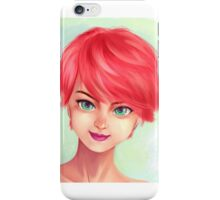 red hair iPhone Case/Skin
