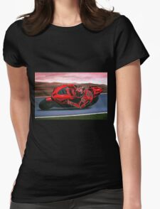 Casey Stoner on Ducati painting Womens Fitted T-Shirt