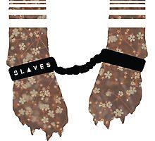 Slaves Cuffed Fox Paws Photographic Print