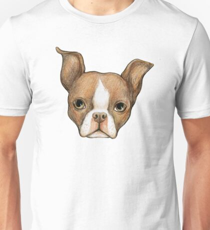 Brown Boston Terrier Unisex T-Shirt