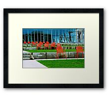 Red Chairs Framed Print