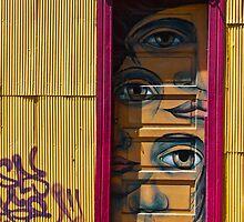 Eye in yellow door by vesa50
