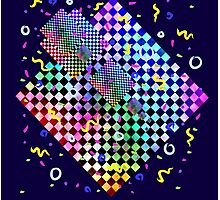 Retro 80s Confetti Photographic Print