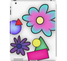 RETRO-Vibrant 80s Abstract Shapes & Flowers iPad Case/Skin