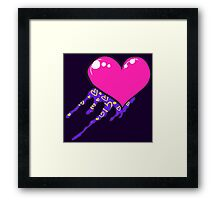 Loving The 80s-Bleeding Heart Framed Print