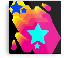 Retro-Star Geometry Metal Print
