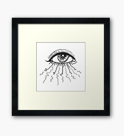 Peaceful Radiant Eye Framed Print