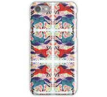 A Horse of Red and Blue iPhone Case/Skin
