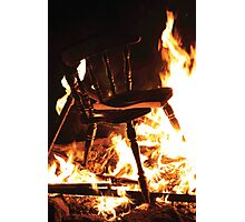 Burning Chair Photographic Print