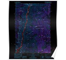 USGS Topo Map Idaho White Monument 238771 1990 24000 Inverted Poster