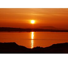 Tangerine Sunset Photographic Print