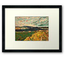 Auvergne Landscape Framed Print