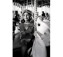 Horsey Ride Bliss Photographic Print