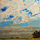 August Prairie and Sky by Randall Talbot