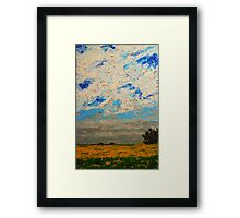 August Prairie and Sky Framed Print