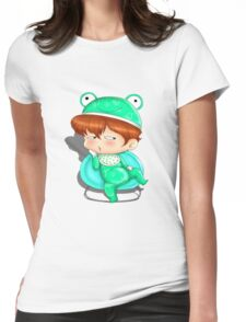 baby frog Womens Fitted T-Shirt