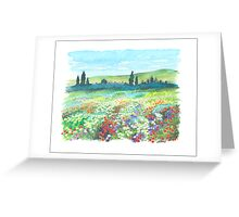ITALIAN DOLOMITES - WATERCOLOR DRAWING Greeting Card