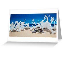 Honu Beach Splash Greeting Card