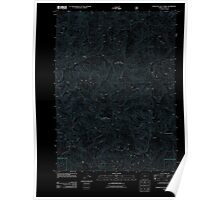 USGS Topo Map Oregon Fourth of July Creek 20110809 TM Inverted Poster