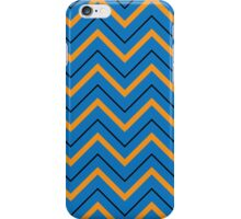 Blue & Orange Chevron iPhone Case/Skin