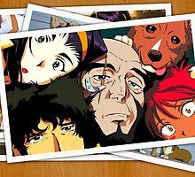 cowboy bebop spike faye jet ed pictures anime manga shirt by ToDum2Lov3