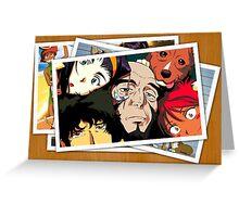 cowboy bebop spike faye jet ed pictures anime manga shirt Greeting Card