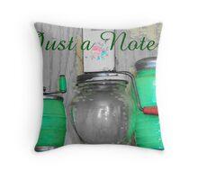Vintage Green Kitchenware Throw Pillow
