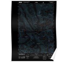 USGS Topo Map Oregon Eagle Cap 20110816 TM Inverted Poster