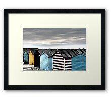 Beach Huts in Winter Framed Print