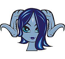 Draenei Female 1 Custom Character Photographic Print