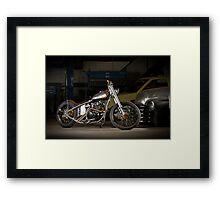 Davo's Custom Honda Bobber Framed Print