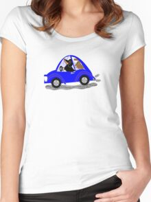 Dachswagon  Women's Fitted Scoop T-Shirt
