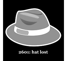 2601: Hat Lost Photographic Print