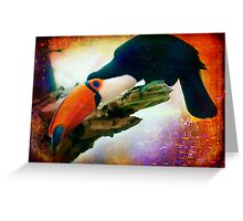 What Toucans do when no one's watching Greeting Card