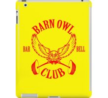 Barn Owl Barbell Club Red iPad Case/Skin