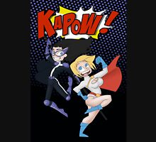 Huntress and powergirl the superteam! Now with a background!  Unisex T-Shirt