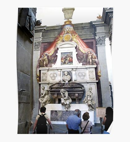 Michelangelo's Tomb in Santa Croce-Florence Poster