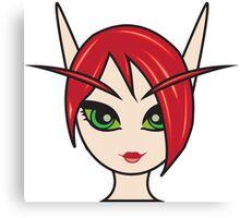 Blood Elf Female 1 Custom Character Canvas Print