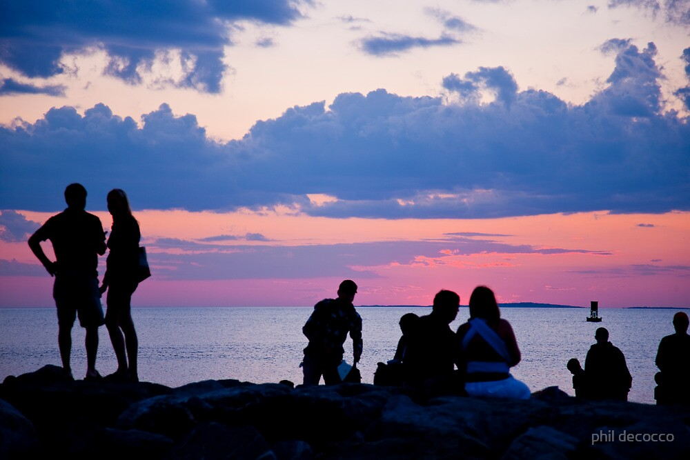Menemsha Sunset by phil decocco