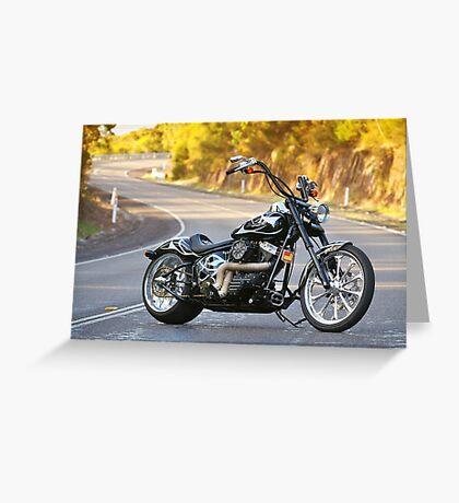 Jeremy's Custom Harley Davidson Greeting Card