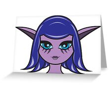 Night Elf Female 1 Custom Character Greeting Card