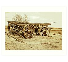Cart From Days Gone By - Country South Australia Art Print
