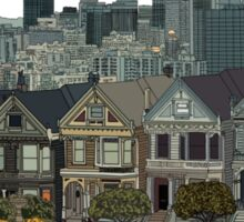 Hand Drawn San Francisco Painted Ladies Sticker