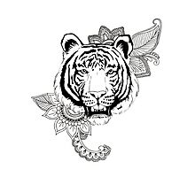 Tiger Design Photographic Print