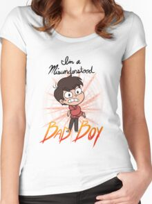 I'm a Misunderstood Bad Boy! Women's Fitted Scoop T-Shirt