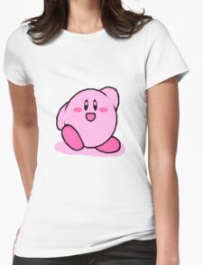 Kirby's Adventure: Pink Horror Womens Fitted T-Shirt