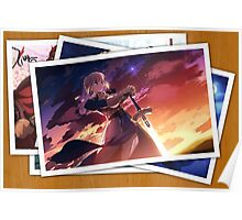 fate zero saber pictures anime manga shirt Poster