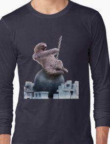 Wrecking Ball Sloth Long Sleeve T-Shirt