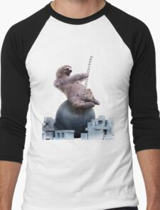 Wrecking Ball Sloth Men's Baseball ¾ T-Shirt