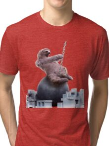 Wrecking Ball Sloth Tri-blend T-Shirt